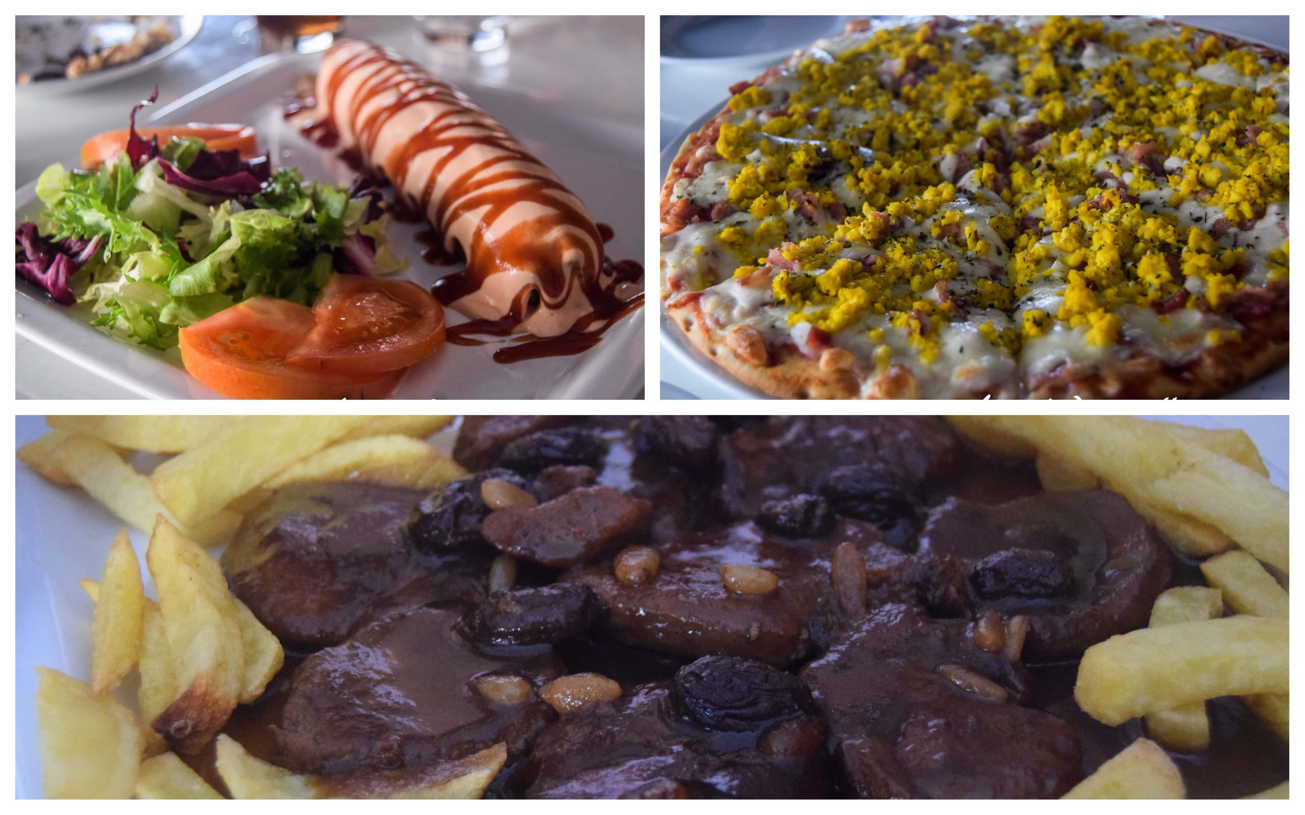 almuerzo en la cafetería Al Grano situada en la plaza Llano de la Cruz, Aguilar de la Frontera- Los viajes de Margalliiver